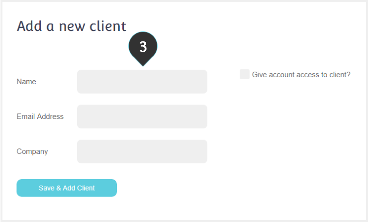 Create Sub-Account Step 3 : Type the name of the client which will be also used as sender name