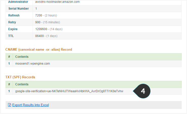 Check SPF and DKIM Step 4 : Scroll down to see if the SPF records match the one in the picture