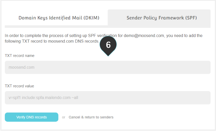 SPF Records Step 6 : Use your records to increase your deliverability rates