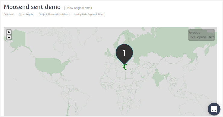 Navigate Actvity by Location Step 1 : Place your cursor over a country to check number of recipients