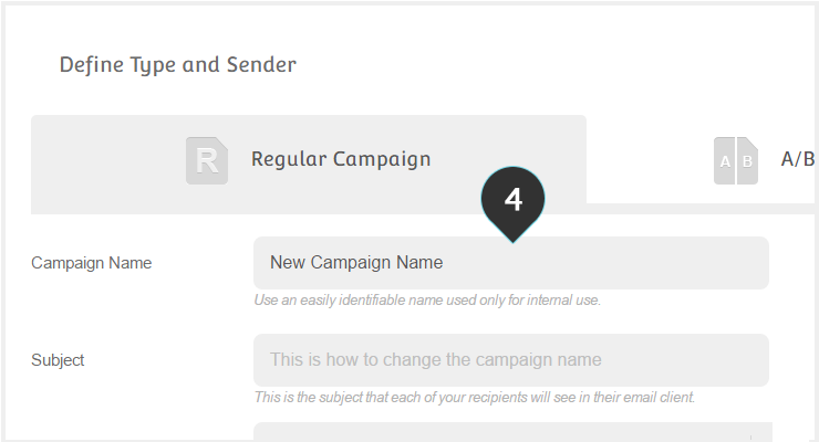 Change Campaign Name Step 4 : Type in a new campaign name