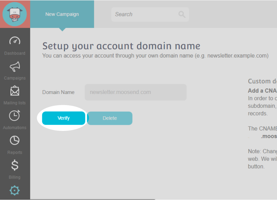 Customize URL Step 4 : Click the Verify button