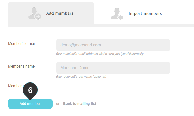 Add One member Step 6 : Click on the Add Member button
