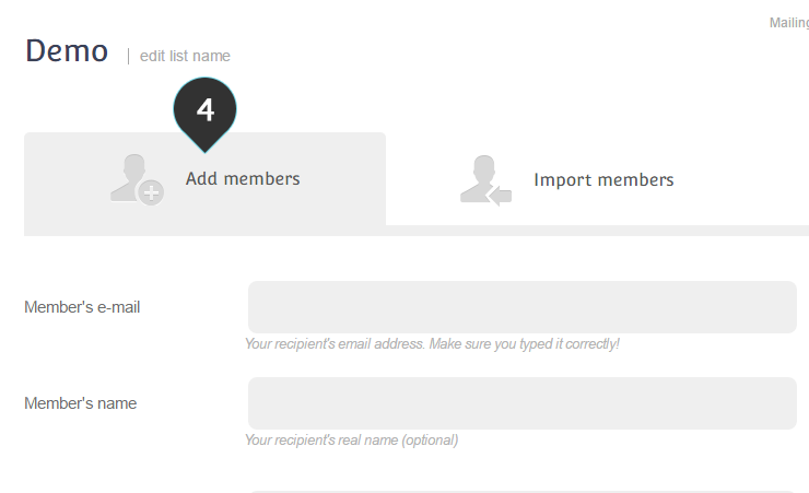 Add One member Step 4 : Click on the Add Members tab
