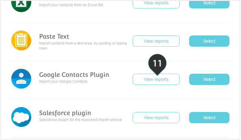 Integrations Google Plugin Step 11 : Click on the View Reports button