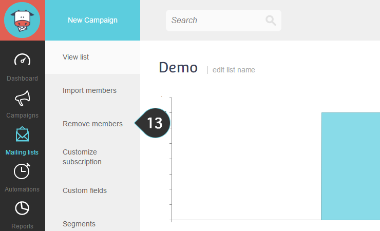 Remove your Google contacts from your Mailing lists Step 13 : Click on remove members