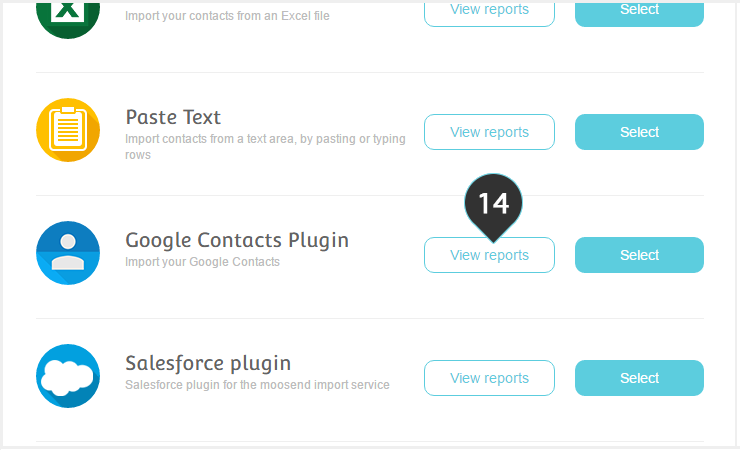Remove your Google contacts from your Mailing lists Step 14 : Click on the View Reports button